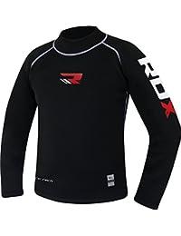 RDX MMA Chemise de Compression Rashguard Debardeur UFC Sport Combat Rash Vest Manche Longue Courte Shirt