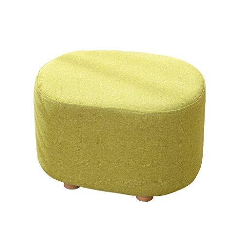Tissu tabouret en bois massif simple salon moderne créatif tabouret court petit tabouret 40 * 30 * 27cm ( Color : Green )