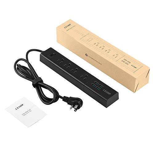 Cloverclover LESHP-Buchse AC 4-Fach Steckdosenleiste Winkelflacher Stecker Mit 4 USB-Anschlüssen -