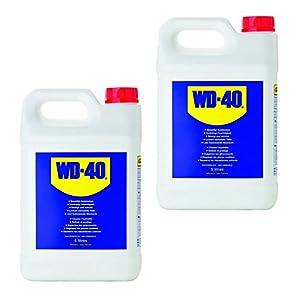 2x5L=10L de WD-40, huile multifonction à différents usages: lubrifiant, dégrippant, huile pénétrante, huile à vaporiser en bidon