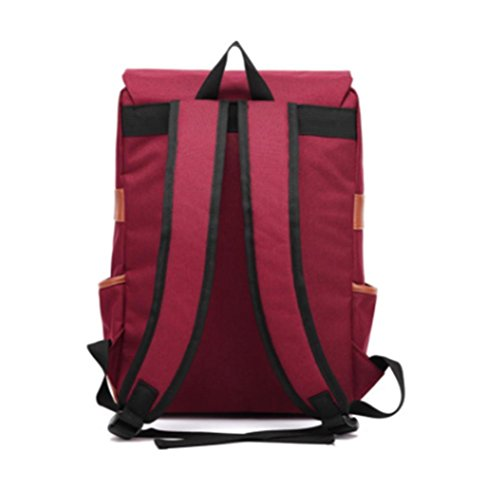 Uomini e donne zaino esterno della tela di canapa grande borsa a tracolla alla moda, contenente una casella del calcolatore, tasca per cellulare, borse chiusura lampo del panino, borse documento, neut f