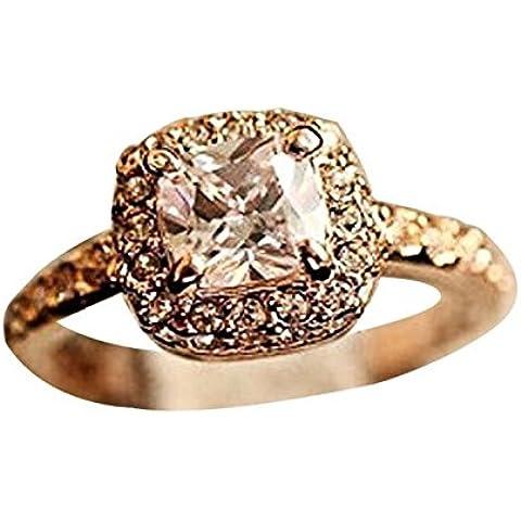 Wrone (TM) 1PC principessa Squar anello di lusso Eleganza Wedding Ring 7