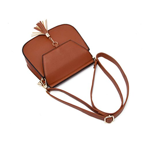 Borsa Piccola Borsa A Tracolla Messenger Bag Bag,Brown Red