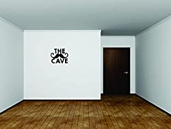 Design with Vinyl Moti 2047 3 Decal - Peel & Stick Wall Sticker : The Cave Text Lettering Quote Color: Black Size 18 Inches x 18 Inches