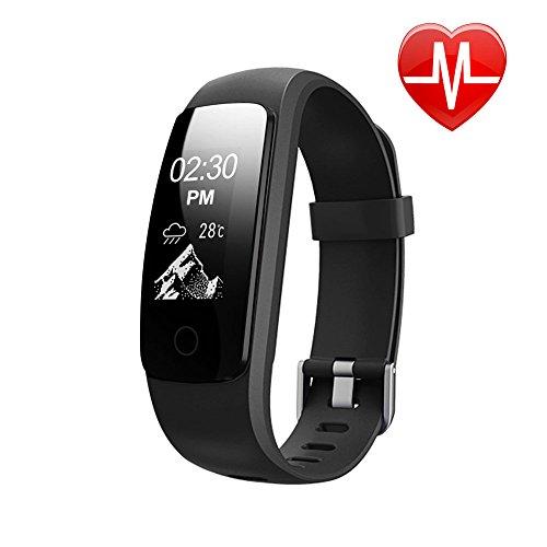 LETSCOM Fitness Tracker Bluetooth Smart Bracelet, Waterproof OLED Screen Smartwatch with Heart Rate Monitor Sleep Tracker Pedometer Smart Wristband Band