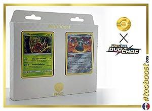 Scarabrute (Pinsir) 9/181 Y Archéodong (Bronzong) 101/181 - #tooboost X Soleil & Lune 9 Duo de Choc - Box de 10 Cartas Pokémon Francés + 1 Goodie Pokémon