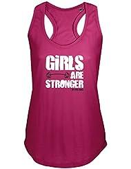Girls Are Stronger, Las niñas son más fuertes, camiseta, Stringer Camiseta interior, Racer, chaleco, camisa, sin mangas, el tanque, camiseta, Fitness, Gimnasio, Deportes