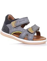 BOBUX - Sandale I-Walk Wave grise en cuir transpirant, extrêmement flexible, elle permet une croissance, garçon, garçons