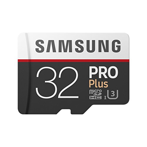 Samsung mb-md32ga/eu pro plus scheda microsd da 32 gb, uhs-i, classe u3, fino a 100 mb/s di lettura e 90 mb/s di scrittura, adattatore sd incluso