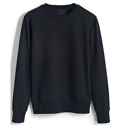 ROCKBERRY Mens Orignals Plain Sweatshirt Jumper Sweater Pullover Work Casual Leisure Top (Black, M)