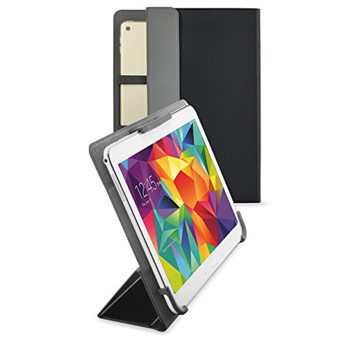 Hp-10 Android Tablet-fall (vanctec Universal Tablet Hülle 25,4 cm, Tablet Fall 25,4 cm, Universal Tablet PU Leder Folio Stand Cover mit Standfunktion Kamera gratis für Android Windows Tablet ASUS, Acer, RCA, Dell, HP schwarz schwarz 22,9-25,4 cm (9-10 Zoll))