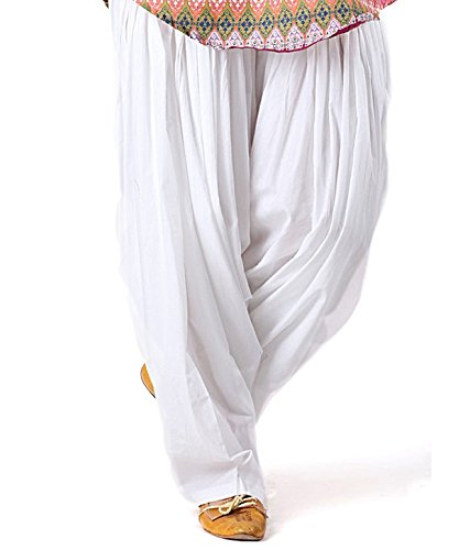 K's Creations Women's Patiala Bottoms(PATIYALAWHITE _White_Free Size)