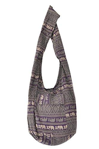 Your Cozy Bolso de algodón hecho a mano para mujeres sobre bolso de hombro (acero azul)