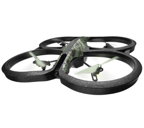 Parrot AR.Drone 2.0 GPS Edition - Dron cuadricóptero (12 minutos de vuelo, cámara HD, 50 metros de alcance, pilotaje con Smartphone o Tablet) + Flight Recorder GPS + Memoria interna 4GB