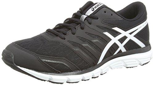 Asics Gel-zaraca 4, Chaussures de Running Entrainement Homme Noir (Black/White/Silver 9001)