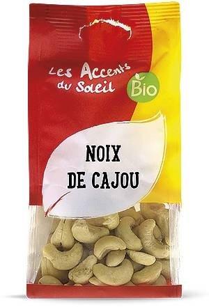 Noix de Cajou Bio sans sel - Noix de cajou crues - Origine Vietnam - Excellent pour la santé | 125g | Les Accents du Soleil
