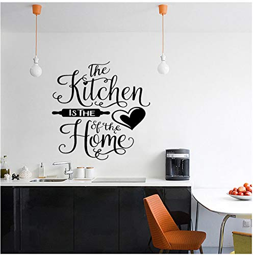 Herzstück der Familie Zitat PVC Wandaufkleber Küche 54x54cm ()