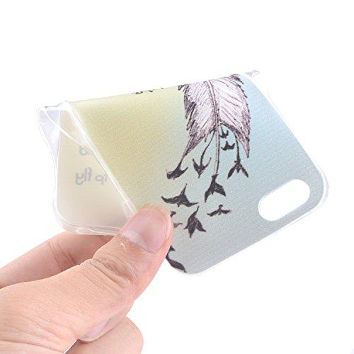 Cozy Hut Coque pour Apple iPhone 5 / iPhone SE / iPhone 5S TPU Case Accesoire Housse Silione Souple Etui Gel Léger Flexible Couverture Protection Arrière Anti Choques Anti Poussières Motif Dessin Dess Ailes d'ange