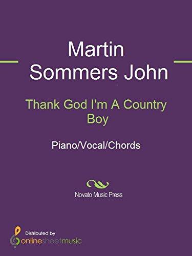 Thank God Im A Country Boy Ebook John Denver Martin Sommers John