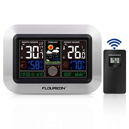 FLOUREON Weather Forecast Clock PT3382