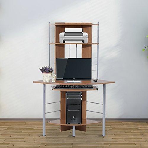 Homcom – Scrivania Angolare per Computer PC da Ufficio Studio in ...