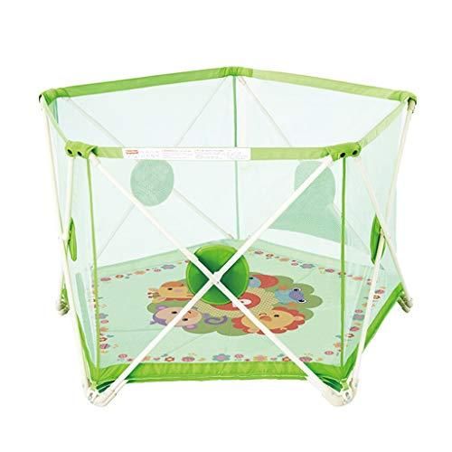 Parc pour enfants parc pour enfants Clôture de jeu pour enfants clôture hexagonale clôture de sécurité intérieure aire de jeu pour la famille jouets pour enfants pliage portable, envoi de 100 balles o