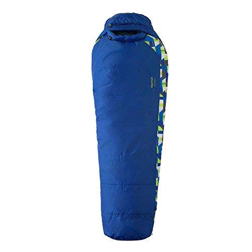 Marmot Kinder Schlafsack Kid's Trestles 30, blau (Dark Azure), Reg: 5'/LZ, 21520-2059-L (Marmot-kinder-schlafsack)