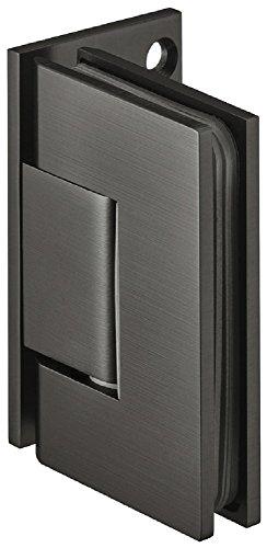 Design Duschtürband Messing Bad-Türscharnier schwarz Glastürbeschlag für Glastüren und Duschen | Duschkabinen-Scharnier für Wand zu Glas Verbindung | Glastürband Messing graphit-schwarz | 1 Stück