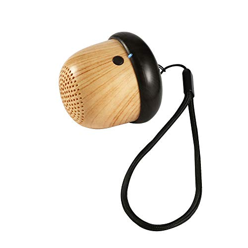 Outdoor A020 Small Mini Nuts Wooded Bluetooth Speakers Super Bass Wooden Wood & White