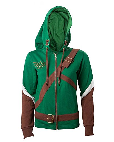 Kostüm Mann Legends Mega - The Legend of Zelda Cosplay Zip-Hoodie Kapuzenjacke Multicolour XXL