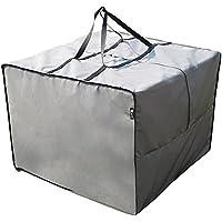 SORARA Aufbewahrungstasche/Cover für Loungekissen   Grau   80 x 80 x 60 cm (L x B x H) Schutzhülle Semi-Wasserabweisend   Polyester   für Outdoor Garten Möbel