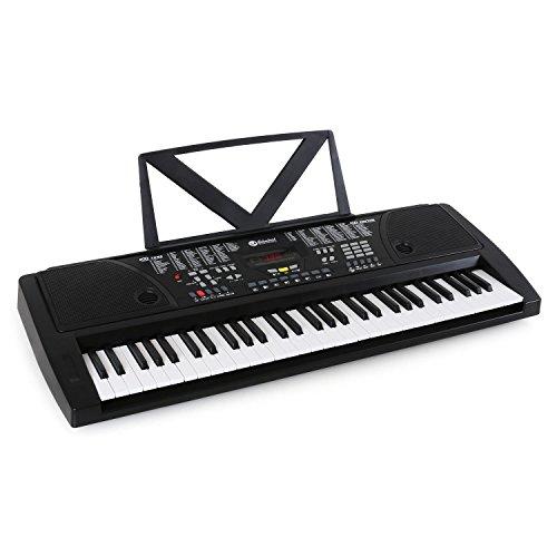 Schubert Ètude-61BKeyboard Digital Piano (61 Tasten, Anschlagdynamik, Aufnahmefunktion, Line-Ausgang, 100 Klangfarben, 100 Rhythmen, 8 Schlagzeuge, 12 Demo-Songs) schwarz