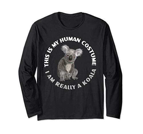Lustige Koala-Bärn-Kostüm-Tierliebhaber Halloween-Geschenke Langarmshirt