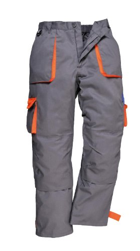 Portwest Texo Trousers Grey/Orange Medium