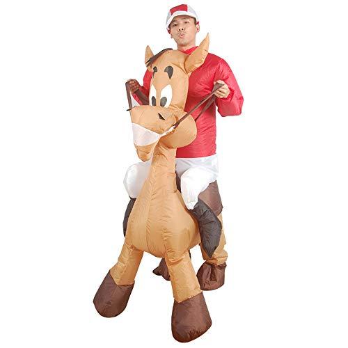 MIMI KING Esel Reiter Aufblasbares Kostüm Für Erwachsene, Halloween-Cosplay, Weihnachten, Festivals, Geburtstagsfeier Niedliche Tier Modellierung