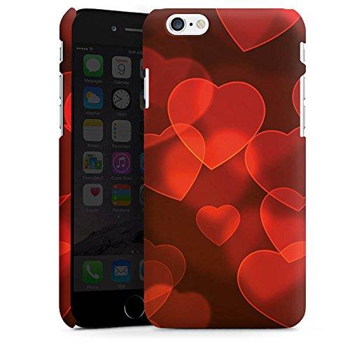 Apple iPhone X Silikon Hülle Case Schutzhülle verblasste Herz Muster Rot Premium Case matt