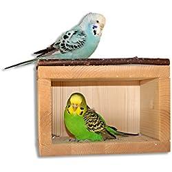 Bonito, Pajarera casa de dormir de madera para el Pájaro jaula o voliere. Ideal vogelzub ehör para Periquito, cacatúas, Agapo rniden, pequeños loros y kanarienvögel