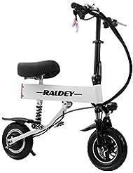 MYYDD Scooter eléctrico, Velocidad máxima de 35 km/h, Llantas amortiguadas Planas de