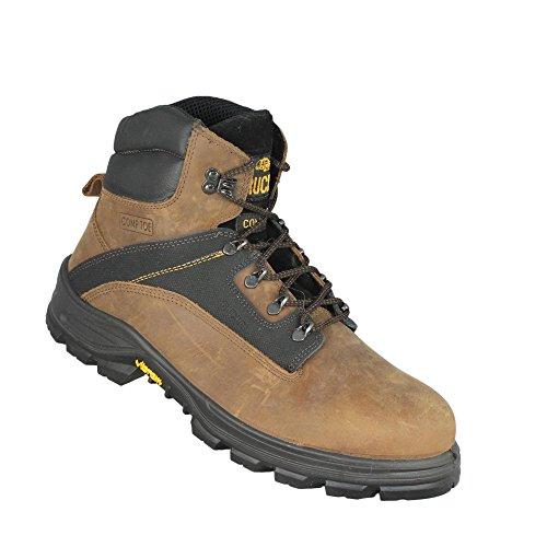 Aimont Caminhoneiro Salvador S3 Sapatos De Segurança Hro Src Trabalhar Sapatos De Trekking Sapatos Marrom