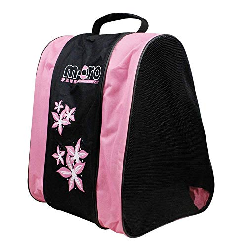 weimanshop Inline Skates Tasche Kinder Damen Bag für Rollschuhe Schlittschuhe 38 * 38 * 23.5 cm Rosa
