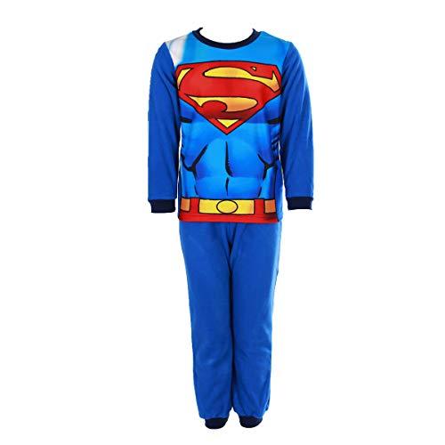ba7e996e8a DC Comics - Batman ou Superman Jungen Schlafanzug Gr. 4 Jahre, Superman -Design