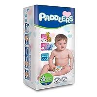 Paddlers Maxi 4 Beden 10 Adet (8-19 Kg) Deneme Paketi Bebek Bezi, Beyaz