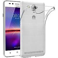Cover per Huawei Y3 II, AICEK Cover Huawei Y3 II Pro Silicone Case Molle di TPU Trasparente Sottile Custodia per Huawei Y3 II Pro