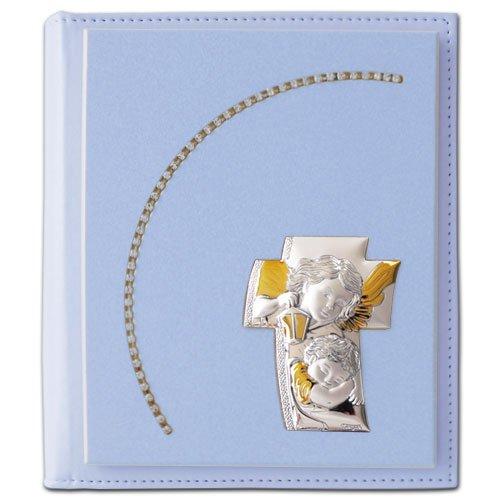 Strass-album (Album Portafoto strass bambino 20x25 con placca a forma di croce angeli TANGARI MADE IN ITALY)