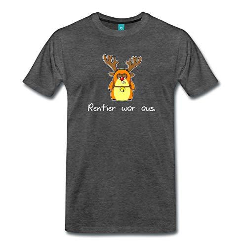 Spreadshirt Weihnachten Lustiger Hamster Rentier War Aus Männer Premium T-Shirt, 4XL, Anthrazit