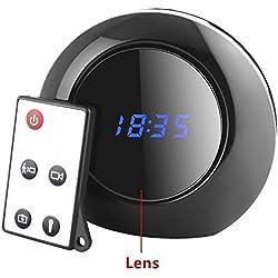 TenSky Reloj Despertador Digital Camara Espia Camufladas con Sensor de Movimiento Video Grabador Angulo Vision de 140 Grados