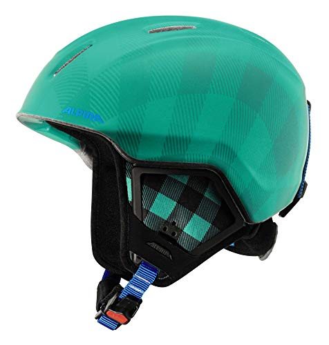 Alpina Kinder Carat XT Skihelm, Cold-Green Matt, 51-55 cm