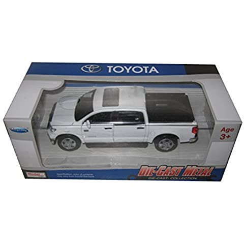 Kingstoy Toyota Tundra Pickup Truck 1:36 Scale Diecast Model Car White 89108WH by Kings Toy