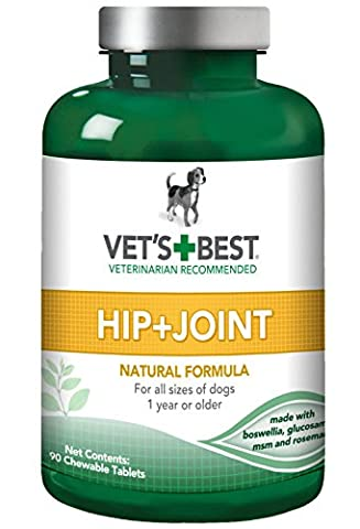 Vet's Best Hip & Joint Dog Supplements, 90 Chewable Tablets