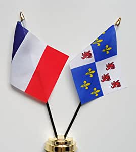 Frankreich und Picardy Freundschaft Tabelle Flag Display 25 cm (25.40 cm)